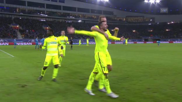 Video «Fussball: Champions League 2015, 3 Tore von Danijel Milicevic» abspielen