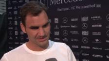 Video «Federer: «Der Match hat zu einfach begonnen»» abspielen
