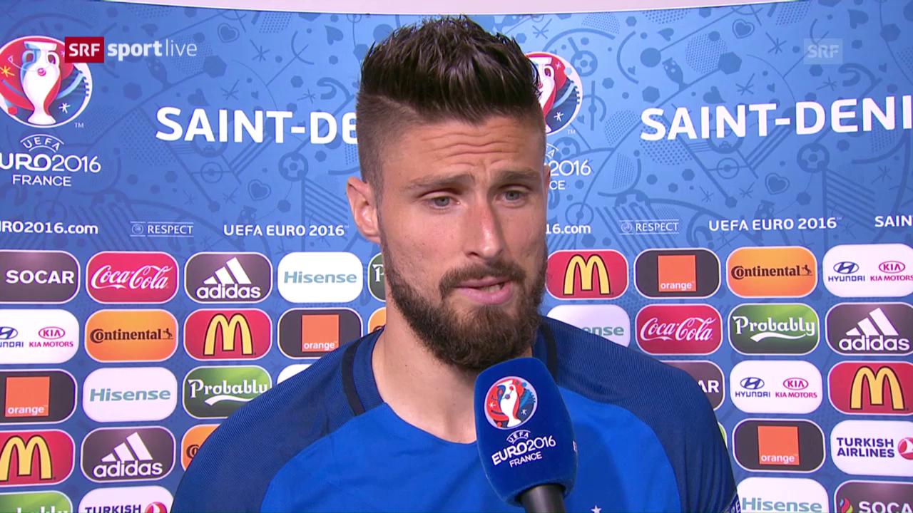 Olivier Giroud, l'um dal gieu, è fich cuntent.