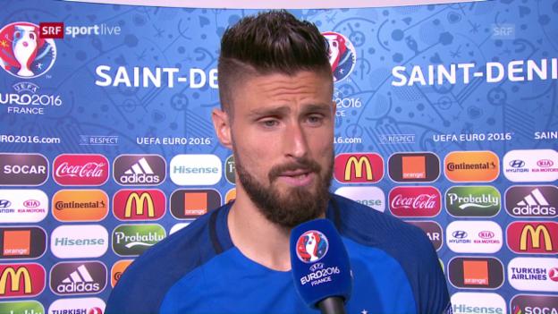 Laschar ir video «Olivier Giroud, l'um dal gieu, è fich cuntent.»