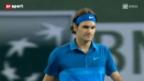 Video «Tennis: Roger Federer siegt im Schnellzugstempo» abspielen