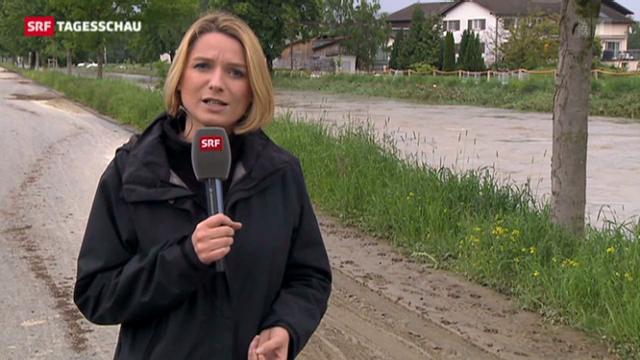 SRF-Korrespondentin zur Situation in Widnau (SG)
