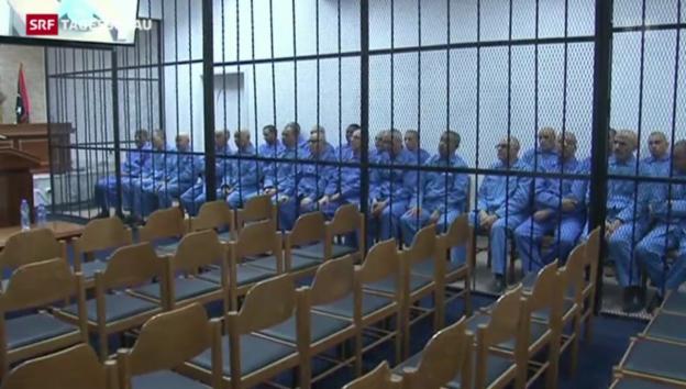 Video «Fortsetzung des Prozesses gegen Gaddafi-Söhne» abspielen