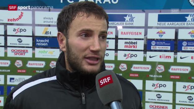 Video «Fussball: Stimmen zu Aarau - GC» abspielen