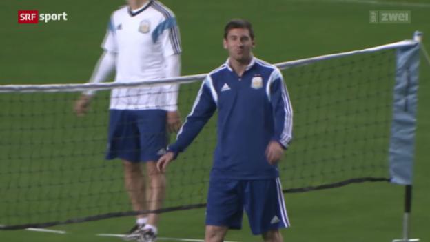 Video «Messis erster Auftritt gegen Bosnien-Herzegowina» abspielen