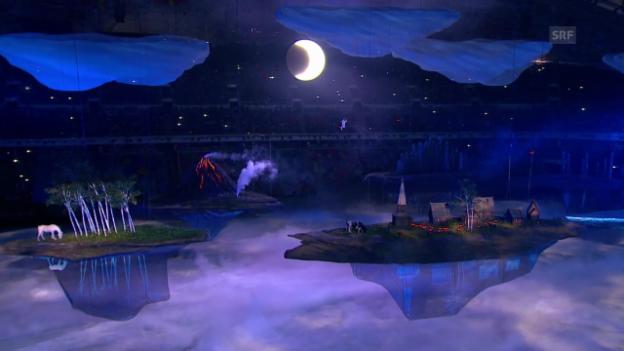 Video «Sotschi: Eröffnungsfeier, Gastgeber Russland stellt sich vor («Sotschi direkt», 07.02.04)» abspielen