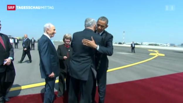 Video «Obama trifft in Tel Aviv ein» abspielen