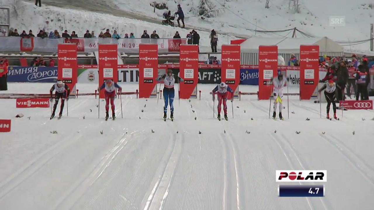 Langlauf: Sprint Kuusamo, Viertelfinal von Ueli Schnider