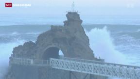 Video «Wetter spielt verrückt in Nordamerika + an Europas Atlantikküste» abspielen