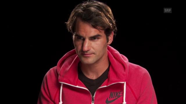 Roger Federer zum Spiel (englisch)