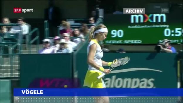 Video «Tennis: Vögele mit Niederlage in New Haven («sportaktuell»)» abspielen