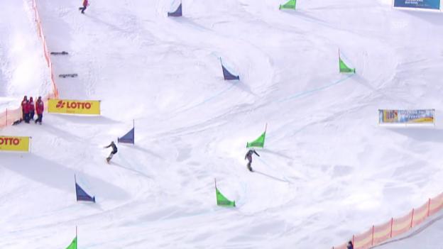 Video «Snowboard: PGS Sudelfeld, Final Frauen, 1. Lauf» abspielen