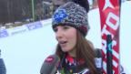 Video «Tina Weirather nach dem Riesenslalom in Maribor: «Machte mir grosse Sorgen vor dem 2. Lauf»» abspielen