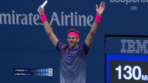 Video «Live-Highlights Federer - Del Potro» abspielen