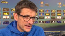 Video «Fussball: Urs Meier vor dem Gladbach-Spiel» abspielen