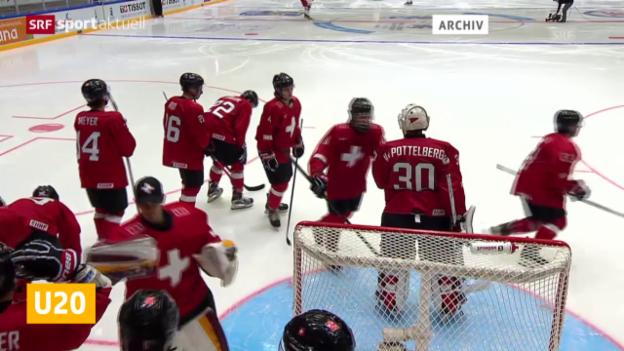 Video «Eishockey: U20-WM, Schweiz gewinnt gegen Weissrussland («sportaktuell»)» abspielen