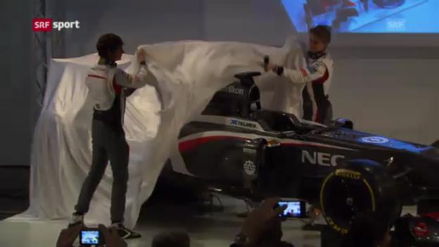 Video «Formel 1: Präsentation Sauber C32» abspielen