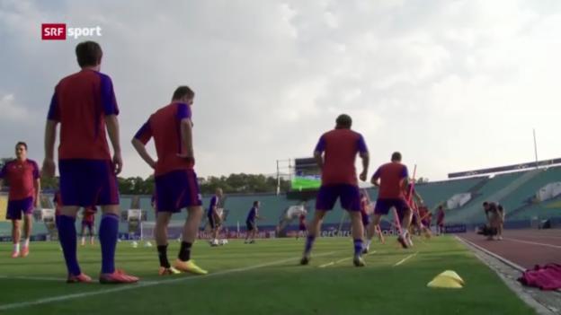 Video «Fussball: Basel vor dem CL-Playoff-Spiel gegen Ludogorets («sportaktuell»)» abspielen