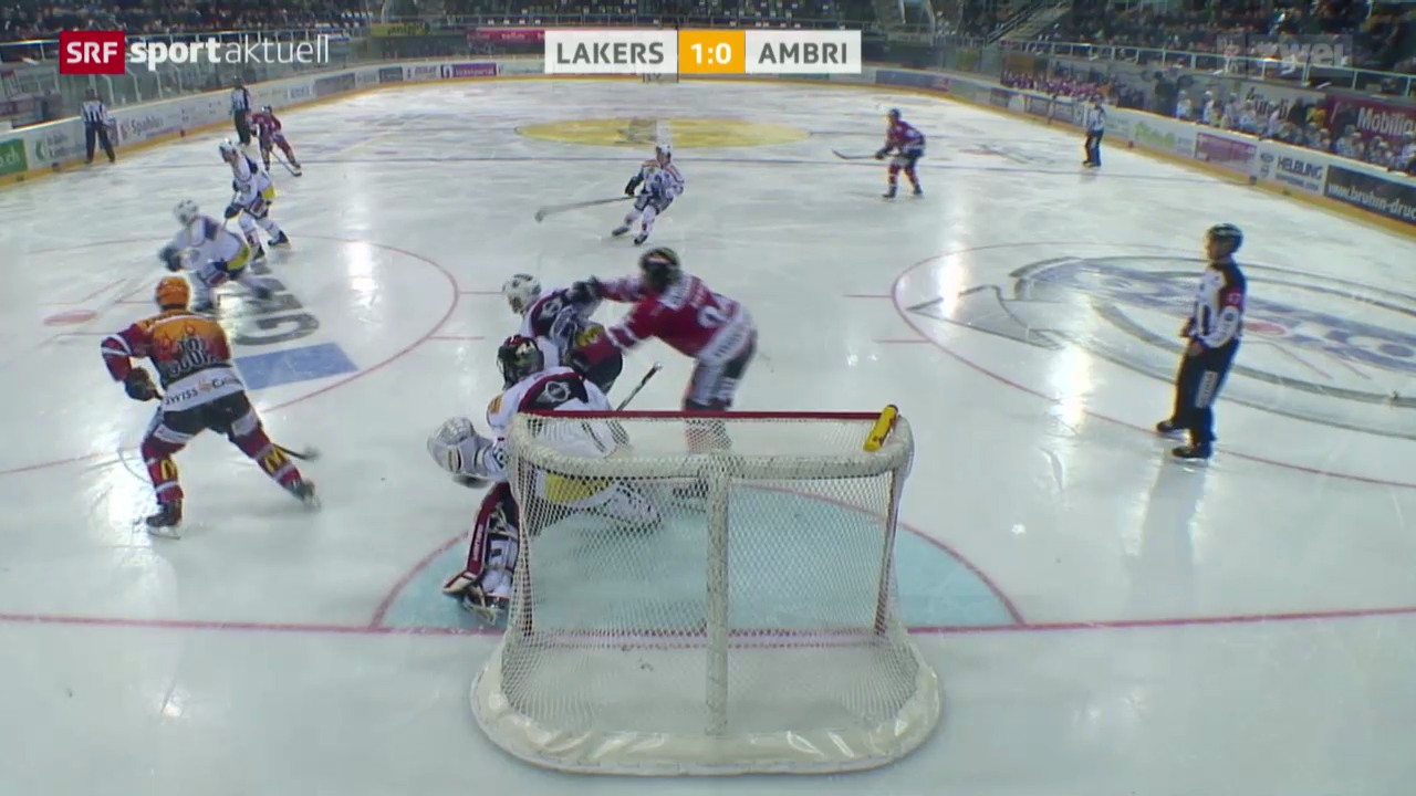Eishockey: NLA, Lakers - Ambri