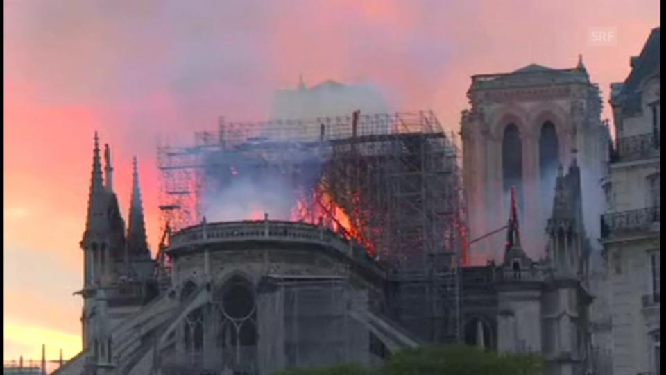 Aus dem Archiv: Hier steht die Notre-Dame in Flammen