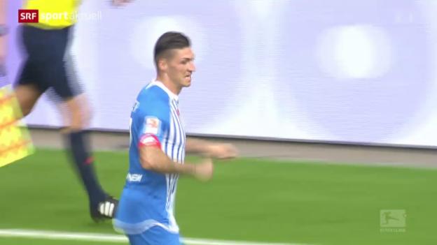 Video «Fussball: Der 1. Bundesliga-Treffer von Steven Zuber» abspielen