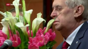 Video «Zeman gewinnt Präsidentschaftswahlen in Tschechien» abspielen