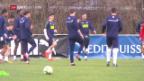 Video «Die Schweizer Nati bereitet sich auf das Testspiel vor» abspielen
