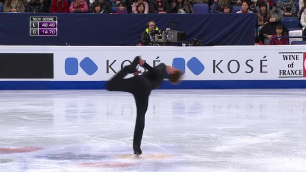 Video «Eiskunstlauf-WM: Das Kurzprogramm von Stéphane Walker» abspielen