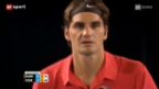 Video «Tennis: Federer meistert erste Hürde souverän» abspielen