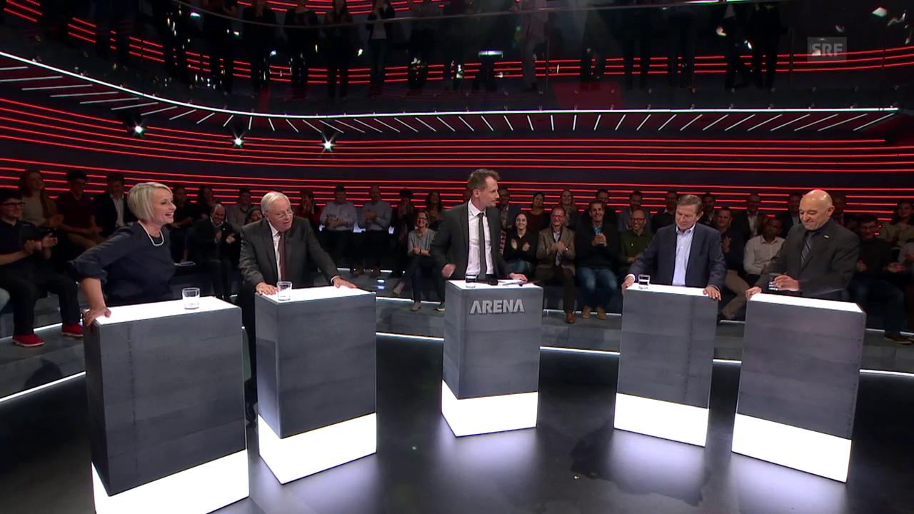 Die letzte Frage in der «Arena»