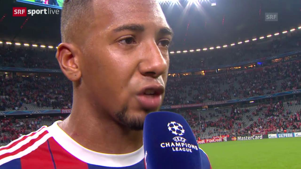 Fussball: Champions League, Bayern - ManCity, Interview mit Boateng