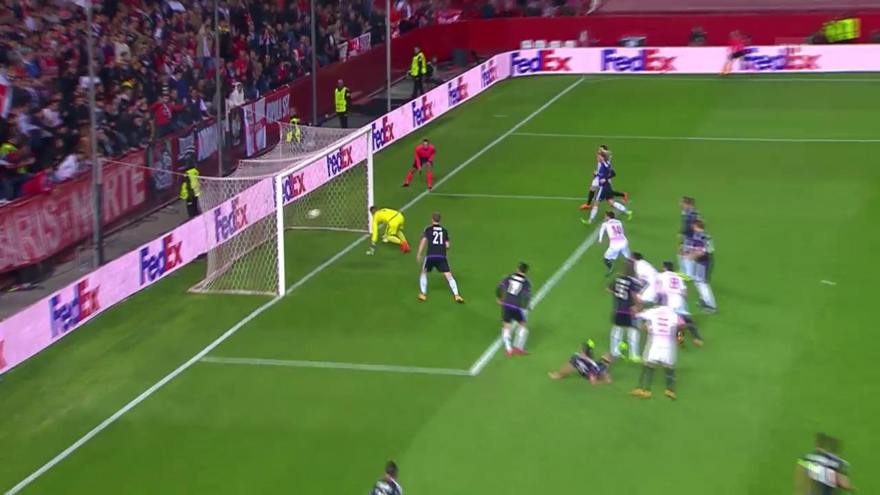 Rami erzielt das 1:0 für Sevilla