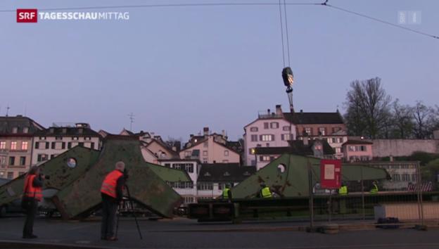 Video «Zürcher Hafenkran - Kunstobjekt oder Geldverschwendung?» abspielen