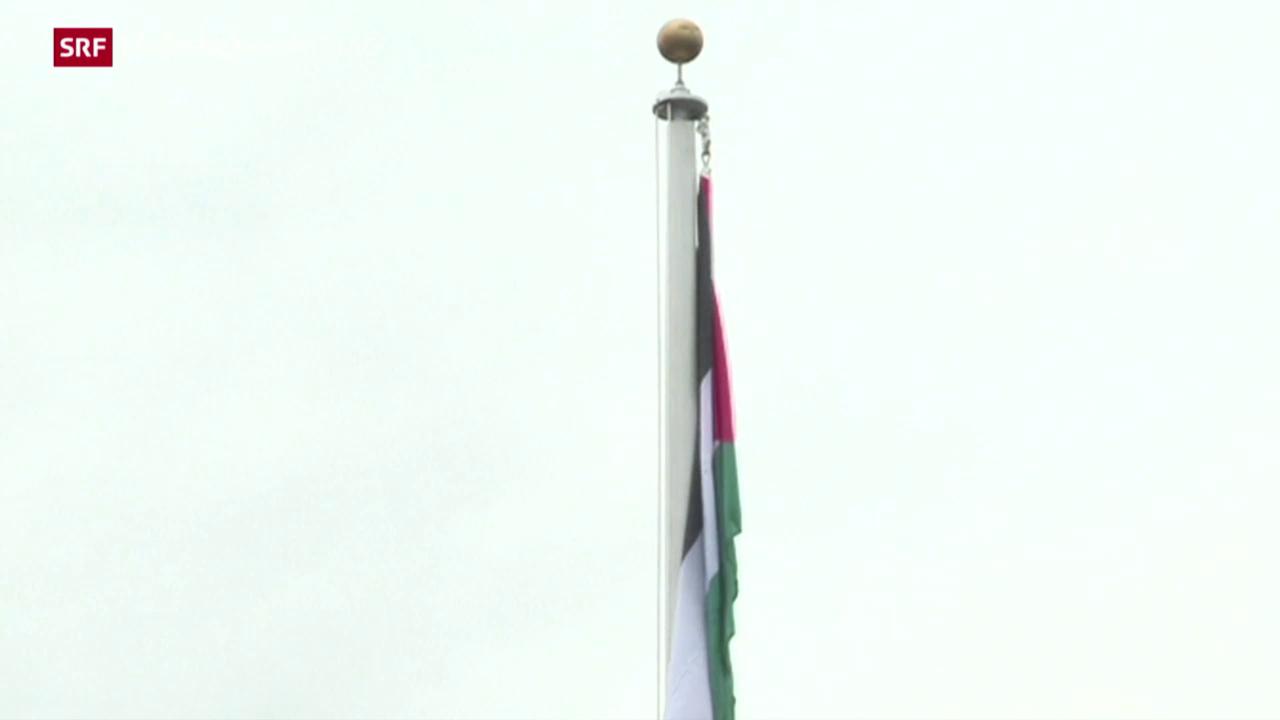 Palästina-Flagge weht neu auf dem UNO-Gelände