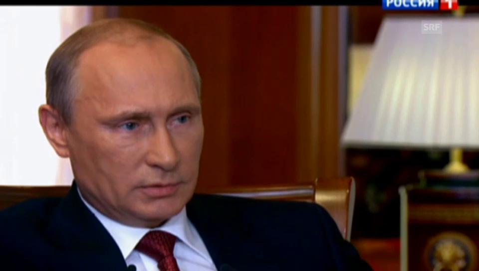 Putin begründet die Annexion der Krim