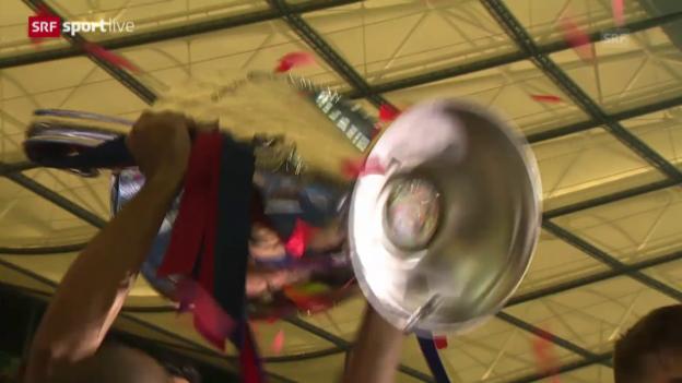 Video «Fussball: CL-Final, Pokalübergabe» abspielen