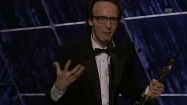 Video «Roberto Benignis durchgedrehte Oscar-Rede (1999)» abspielen