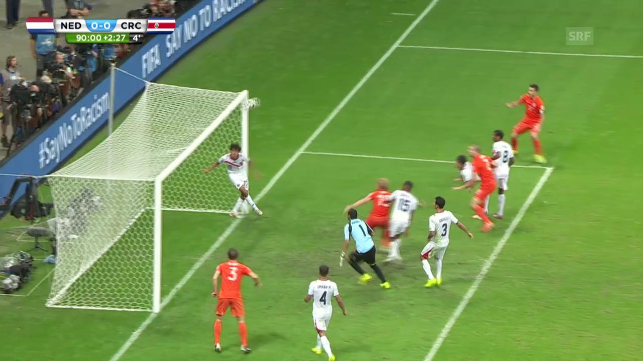 FIFA WM 2014: Niederlande - Costa Rica: Live-Highlights nach 120 Minuten