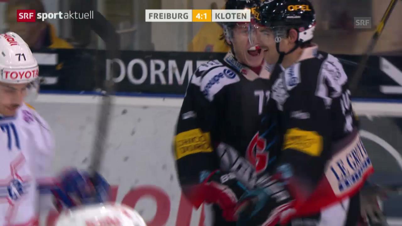 Eishockey: NLA, Freiburg - Kloten («sportaktuell»)