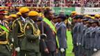 Video «Präsident in Simbabwe vereidigt» abspielen