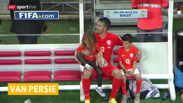 Video «WM 2014: Fragezeichen um Van Persie und De Jong» abspielen