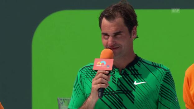 Video «Federer: «Der Traum geht weiter» (engl.)» abspielen