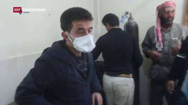 Video «Entsetzen nach mutmasslichem Giftgas-Angriff» abspielen