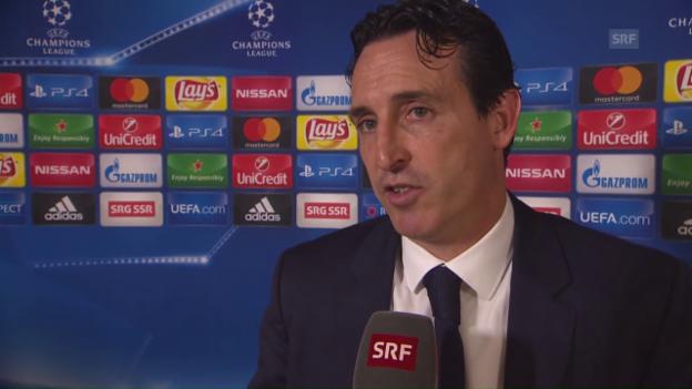 Video «Emery: «Das 1:0 war der Schlüssel» (franz.)» abspielen