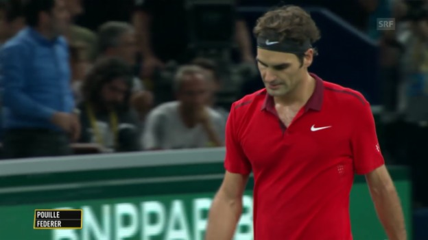 Video «Tennis: ATP Paris-Bercy, Achtelfinal, Federer - Pouille» abspielen