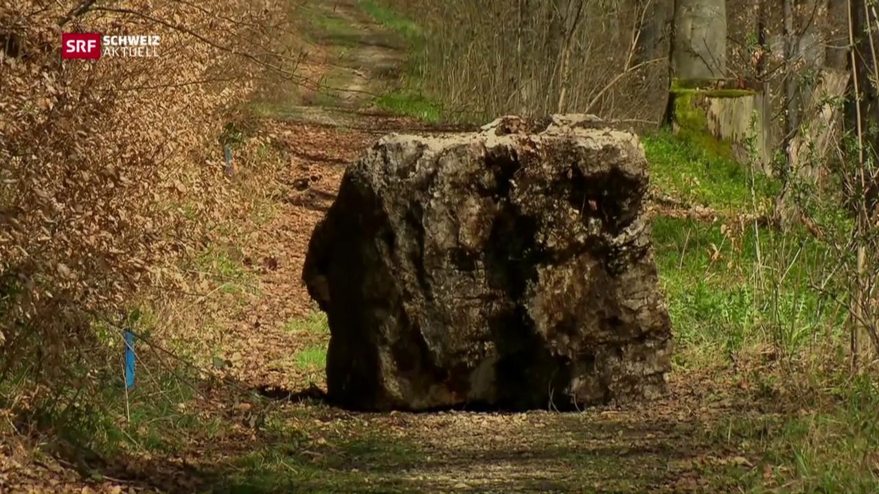 Nur mit Glück 2 Tonnen Fels entkommen