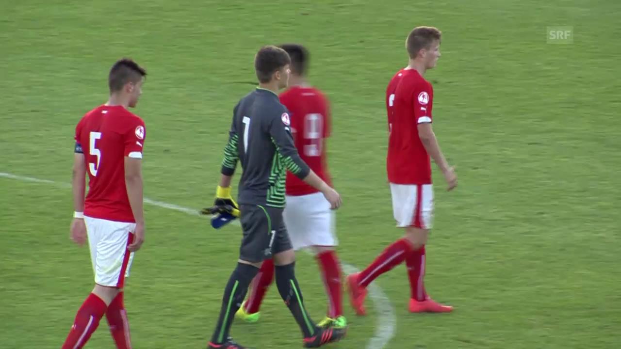 U17-EM in Malta, Schottland - Schweiz 1:3, damit hat die Schweiz die Halbfinals verpasst.