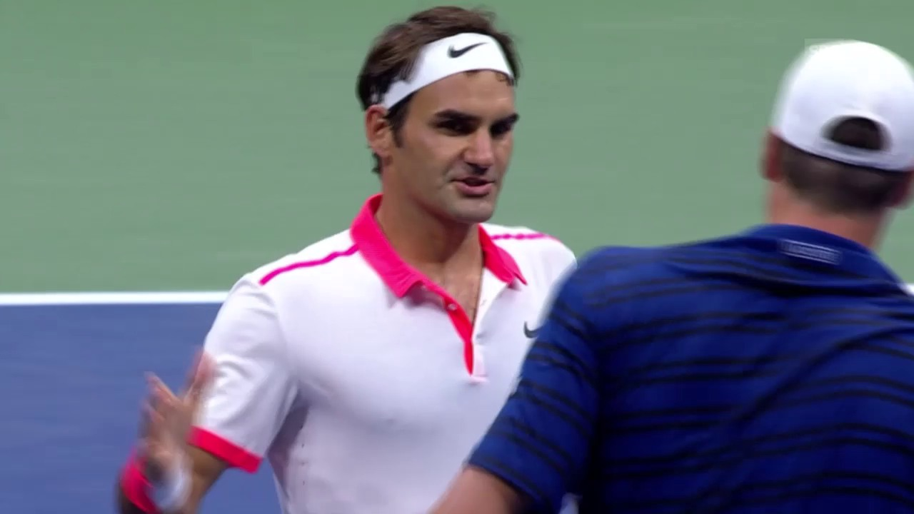 Tennis: US Open 2015, Achtelfinal, Roger Federer - John Isner