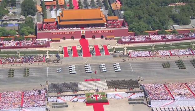 Video «Miliärparade in Peking (unkommentiert)» abspielen