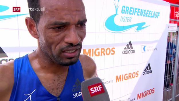 Video «Leichtathletik: Comeback von Tadesse Abraham am Greifenseelauf» abspielen